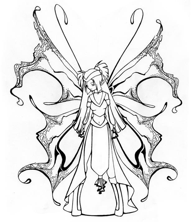 617x712 The Complete Line Art Fairy Xd By Dreamangelkristi