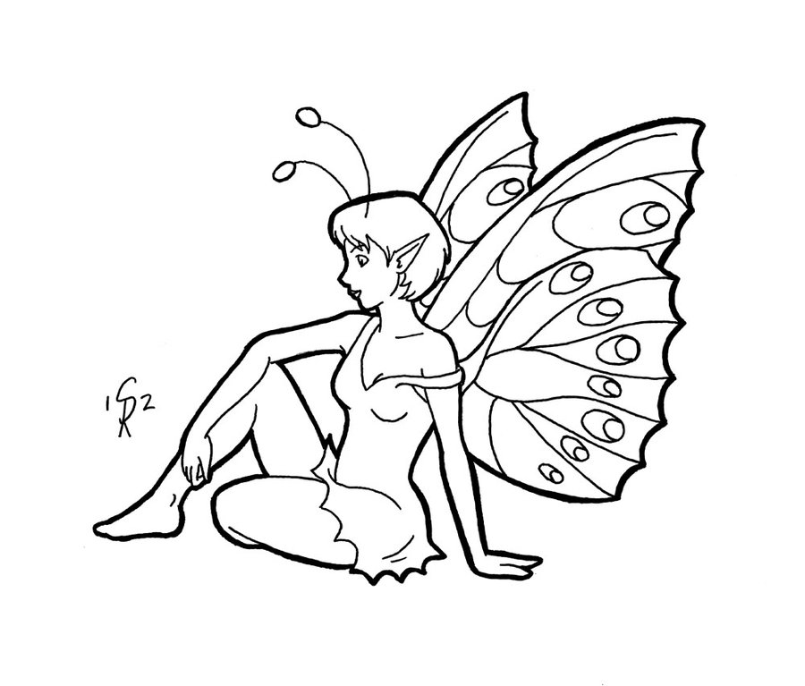 900x767 Butterfly Fairy By ~gingersketches On Fairies