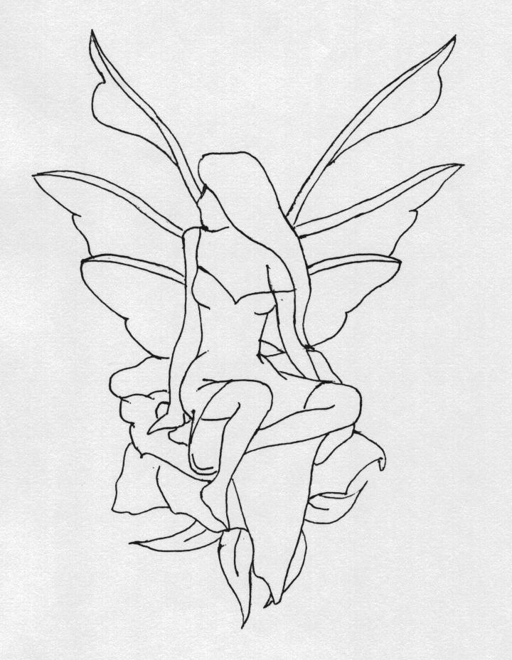Fairy Outline Drawing at GetDrawings com | Free for personal