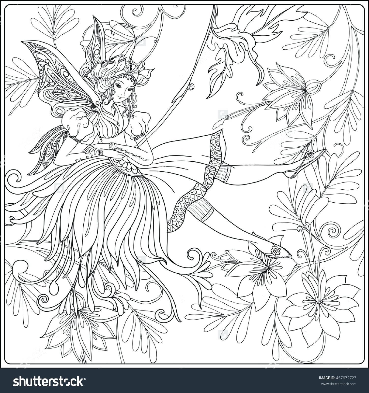 1500x1600 Coloring Drawings For Coloring Fairy With Butterfly Wings
