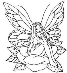 236x256 Easy Fairy Sketches