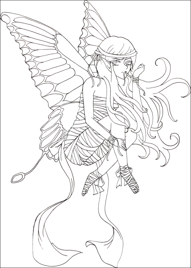 630x881 Faerie Outline By Momiru Chan