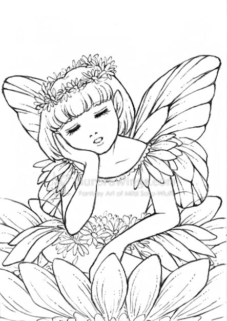 443x626 Easy Pencil Drawing Of Fairies