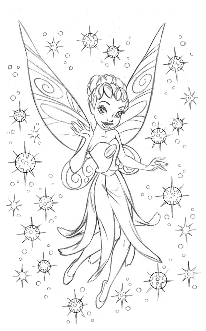 678x1091 Fairies Coloring Book