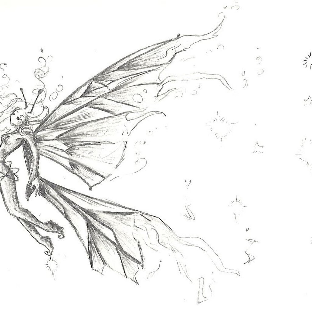 1024x1024 Fairy Anime Drawings In Pencil Fairy Anime Drawings In Pencil Hd