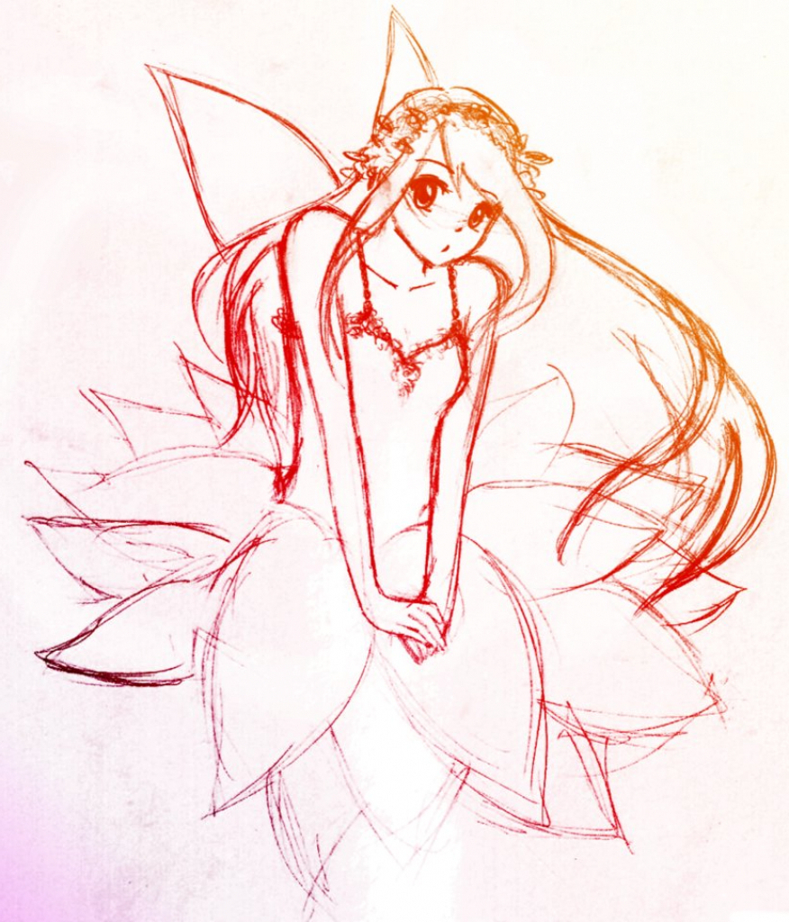 876x1024 Fairy Anime Drawings In Pencil Fairy Pencil Drawing