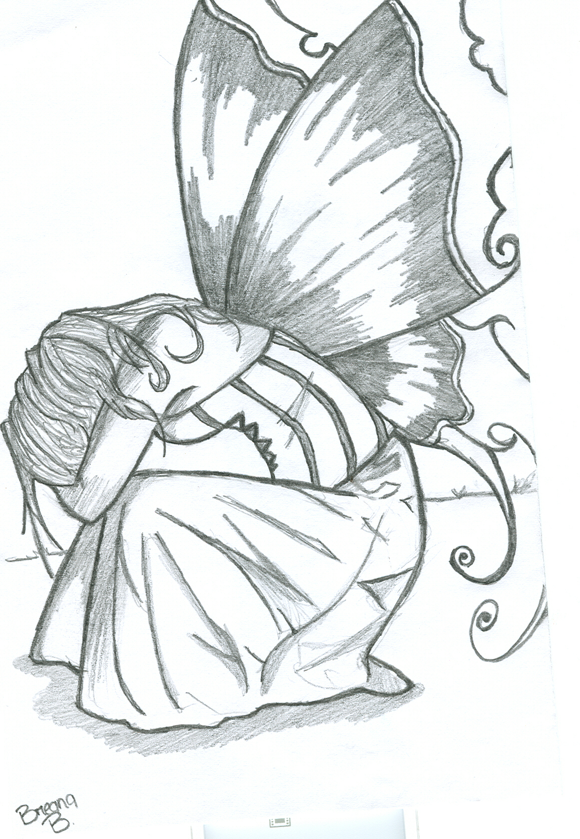 1158x1674 Pencil Sketches Of Fairies Beautiful Pencil Sketches Of Fairies