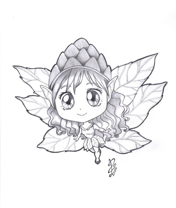 600x708 Little Fairy Pencil By Pammyart