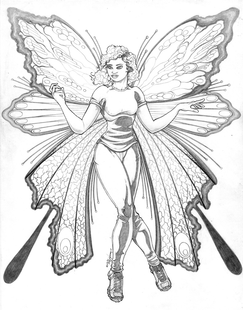 791x1007 Beautiful Fairies Pencil Drawing Drawing Archives