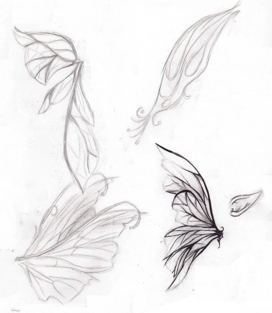 888x1024 Beautiful Fairy Wings Drawing Fairy Drawings In Pencil Pencil