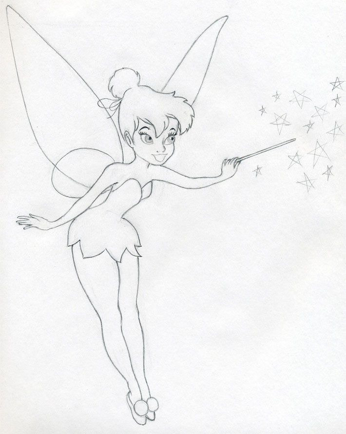 710x889 Drawn Fairy Line Drawing