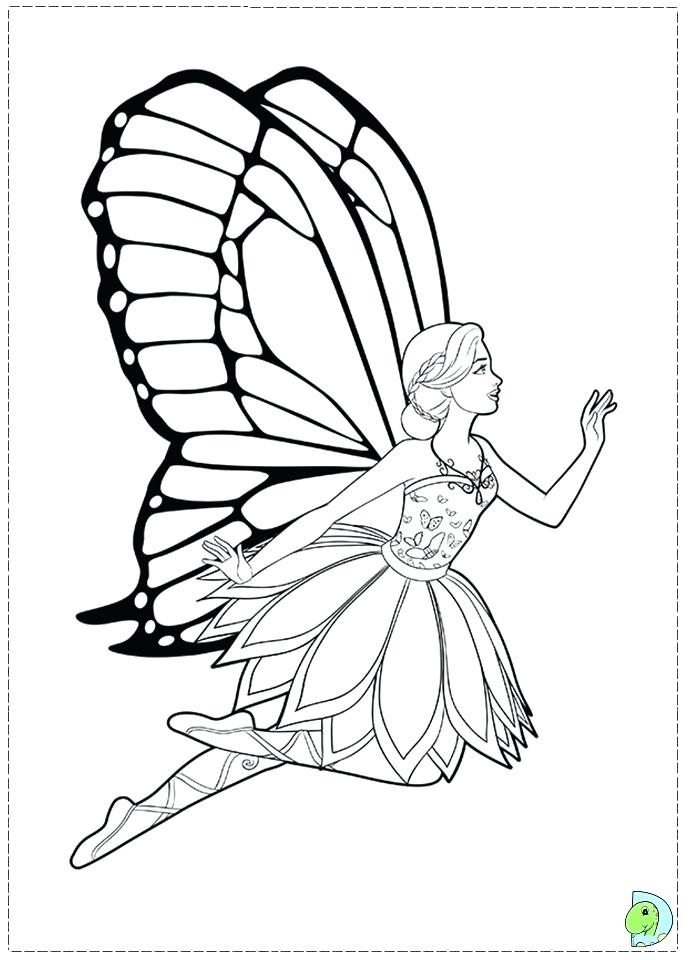 691x960 Fairy Princess Coloring Pages Free