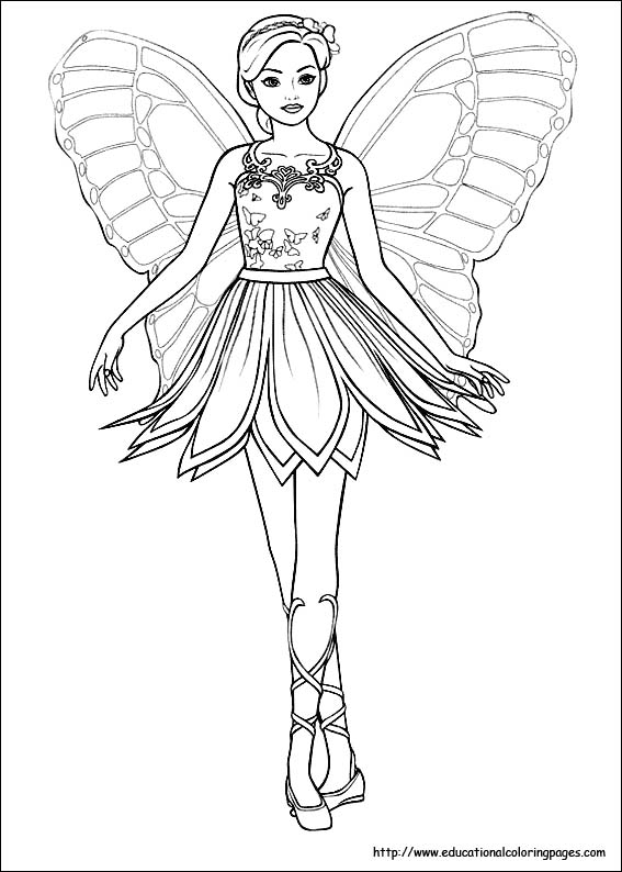 567x794 Fairy Princess Coloring Pages Free