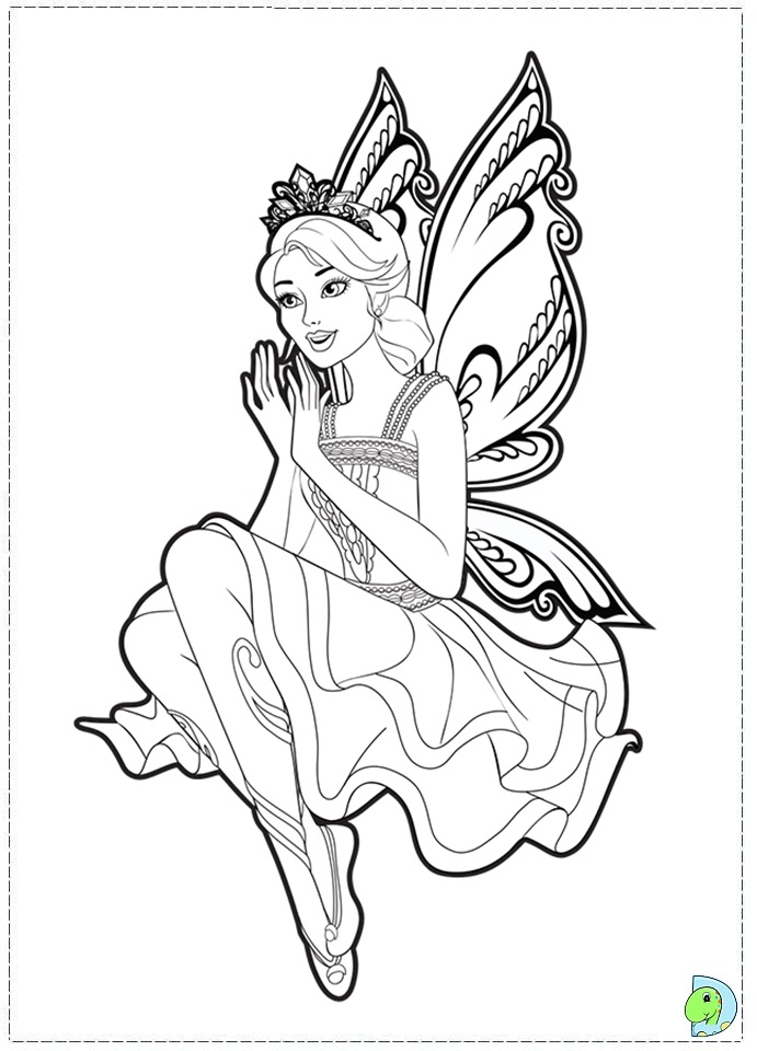 691x960 Barbie Fairy Princess Coloring Pages Fairies Fairy