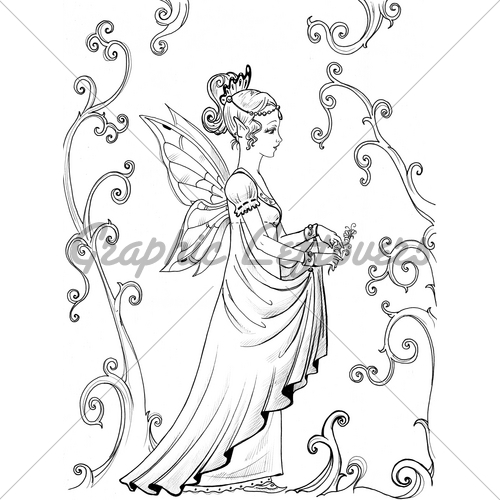 500x500 Fairy Princess Gl Stock Images