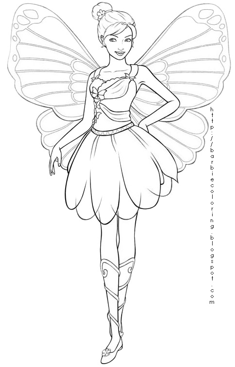 483x755 Fairy Princess Coloring Pages Barbie Mariposa Coloring Pages Fairy