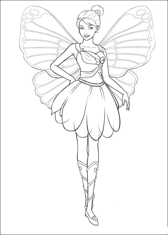 567x794 Princess Color Pages Printable Barbie Maripossa Coloring Pages