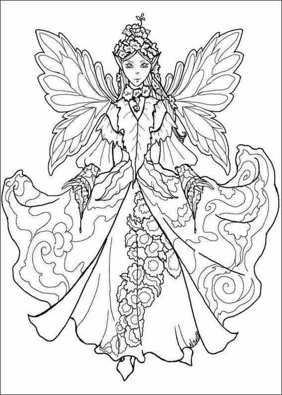 567x794 Fairy Princess Coloring Pages