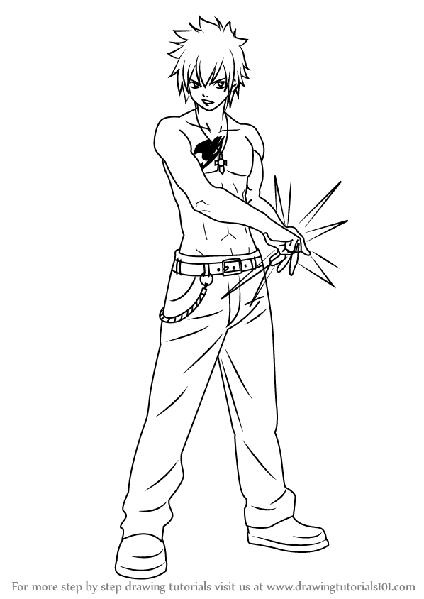 598x844 Learn How To Draw Gray Fullbuster From Fairy Tail (Fairy Tail
