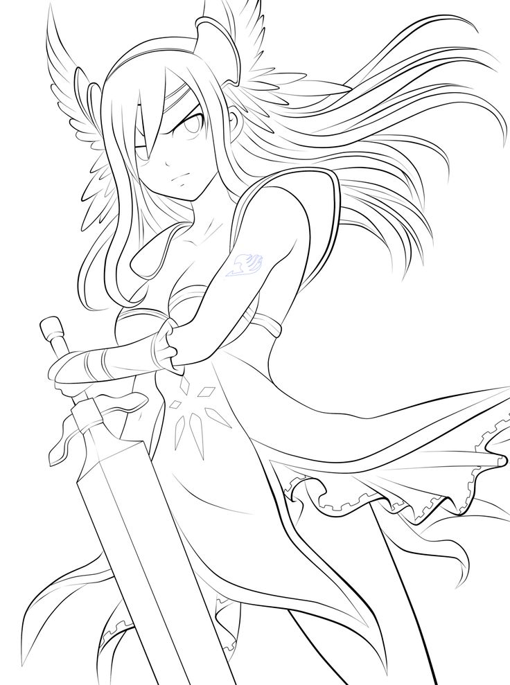 Fairy Tail Erza Drawing