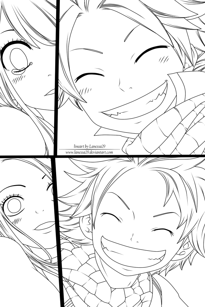 683x1025 Fairy Tail Come With Me! Now And Then [Lineart] By Lanessa29
