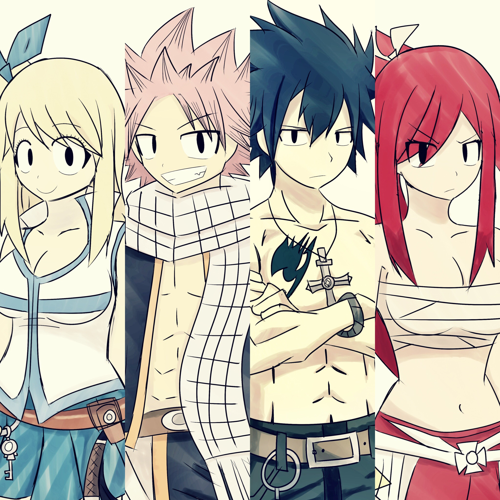 2048x2048 The 4 Fairy Tail Drawings I'Ve Made All Put Together. Fairytail