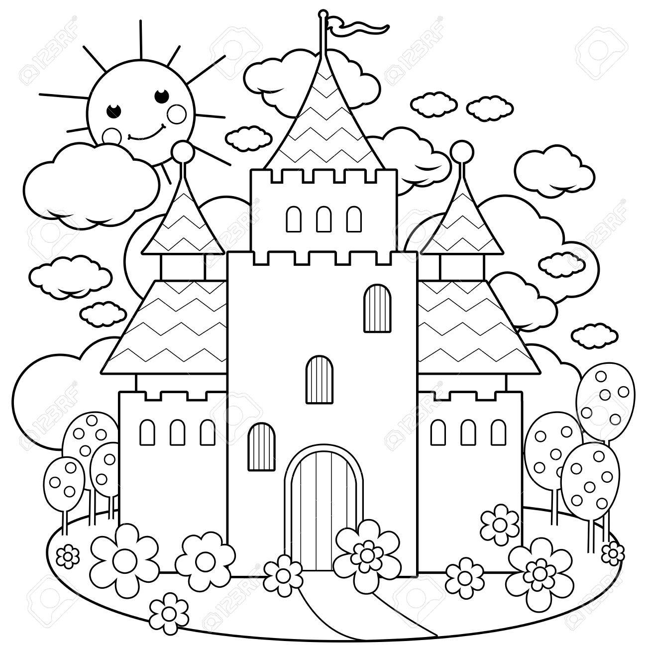Fairy Tale Castle Drawing at GetDrawings.com | Free for personal use ...