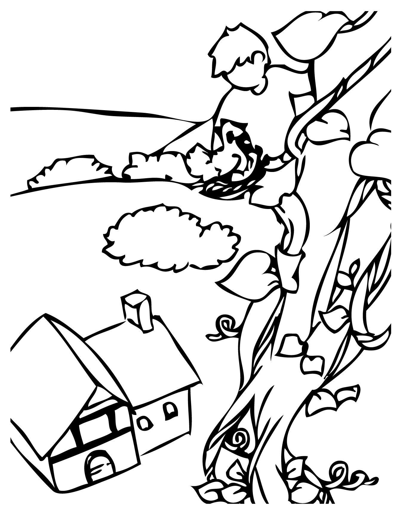 1350x1725 Jack And The Beanstalk Castle Coloring Pages Coloring Page For Kids