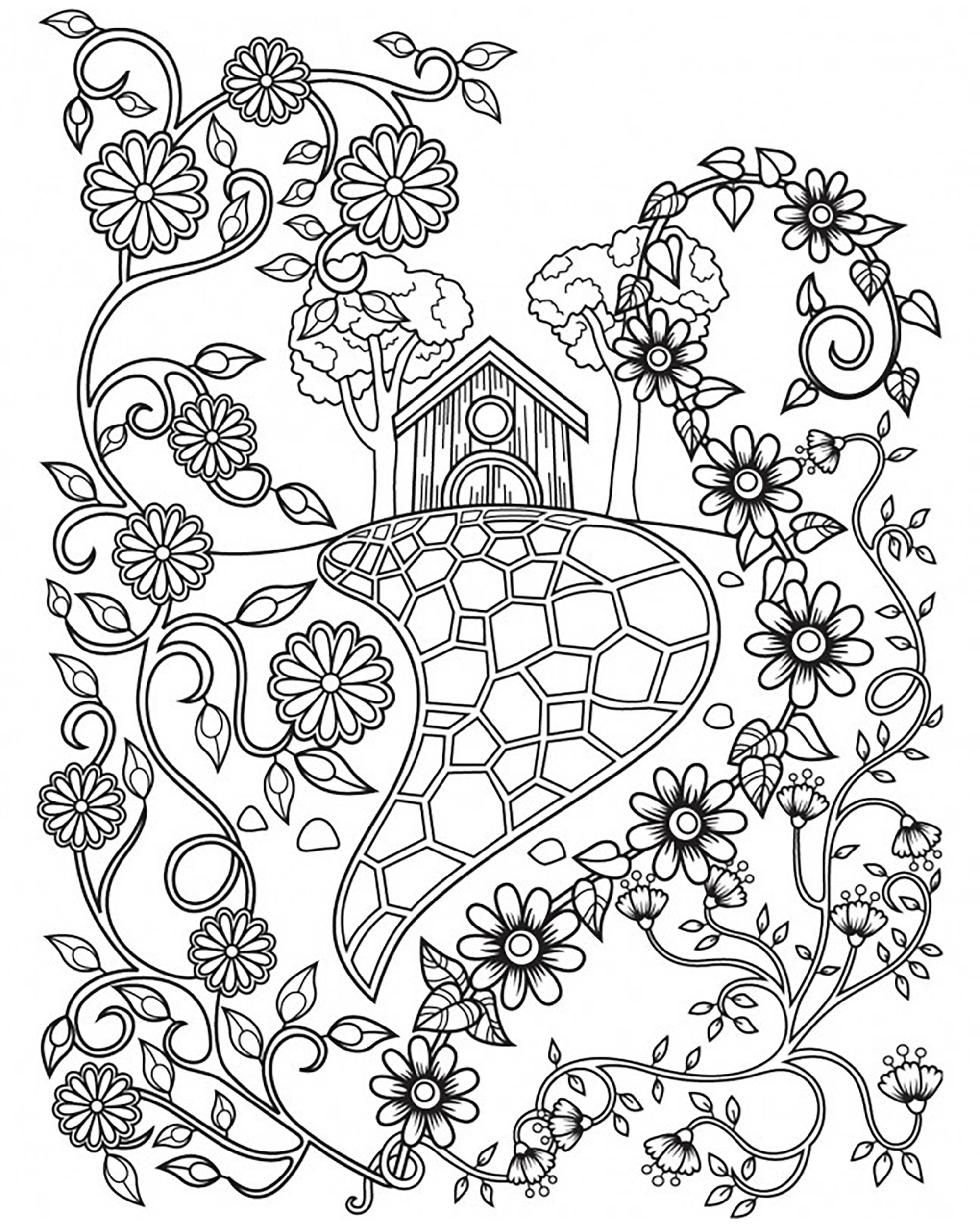2000x2501 Fairy Tale House And Flowers Fairy Tales