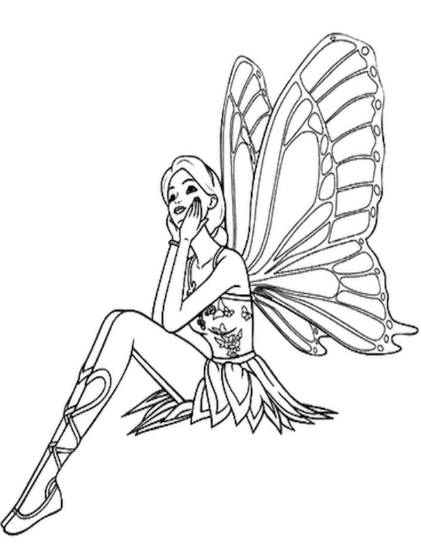 612x792 Free Printable Fairy Coloring Pages For Kids