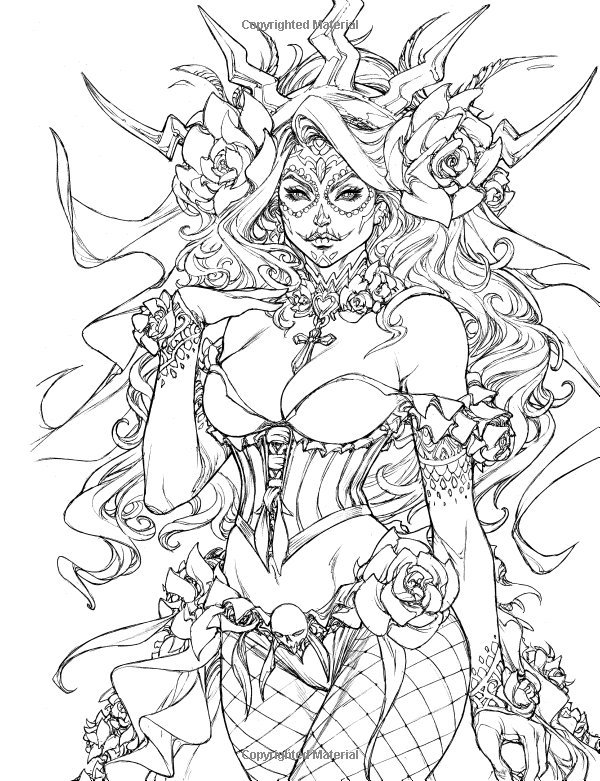 600x781 Grimm Fairy Tales Adult Coloring Book Amazon.co.uk Jamie Tyndall