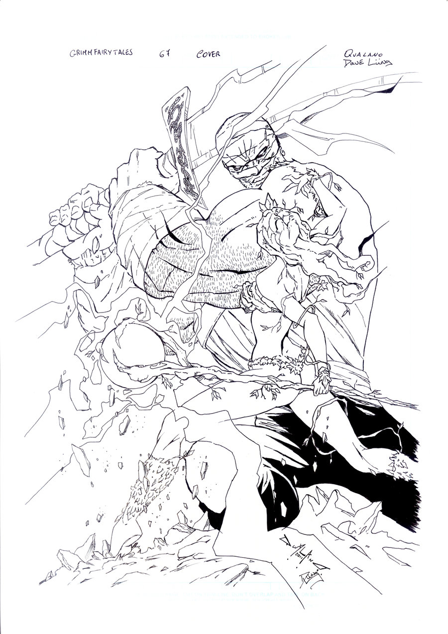 900x1274 Grimm Fairy Tales 67 Inks By Davelungart