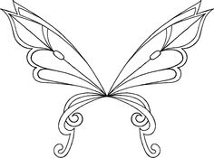 236x175 Fairy Wings To Colour Fairy Wings Drawing Page Fairy Wings 1