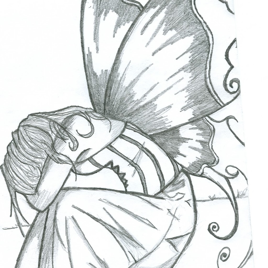 1024x1024 Fairy Pencil Drawings Fairy Anime Drawing In Pencil Fairy Pencil