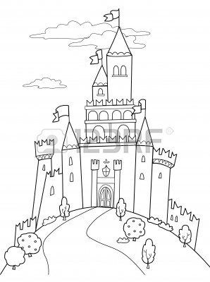 Fairytale Castle Drawing