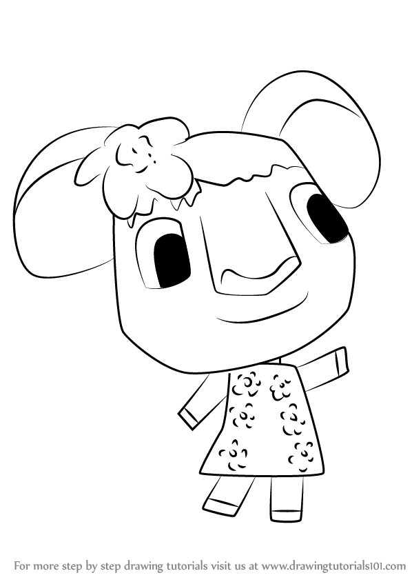 598x844 Learn How To Draw Faith From Animal Crossing (Animal Crossing