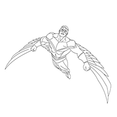 marvel falcon coloring pages - photo#18