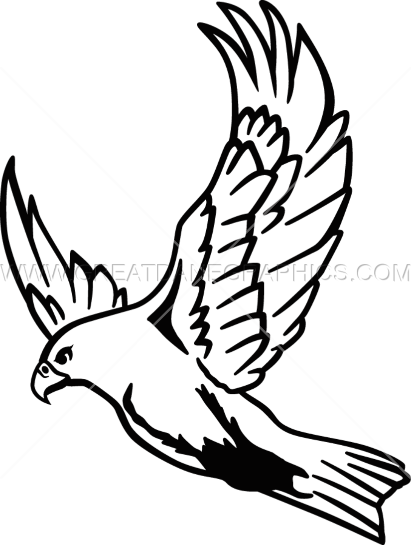 825x1092 Flying Falcon Production Ready Artwork For T Shirt Printing
