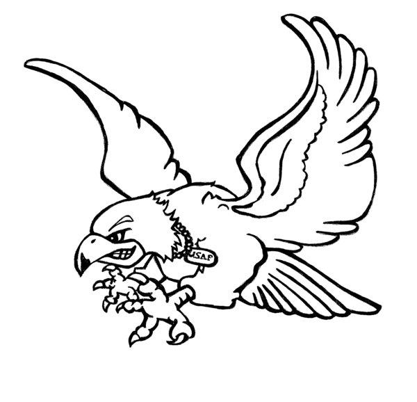 600x578 Air Force Falcon Tattoo By Karadarkthorn