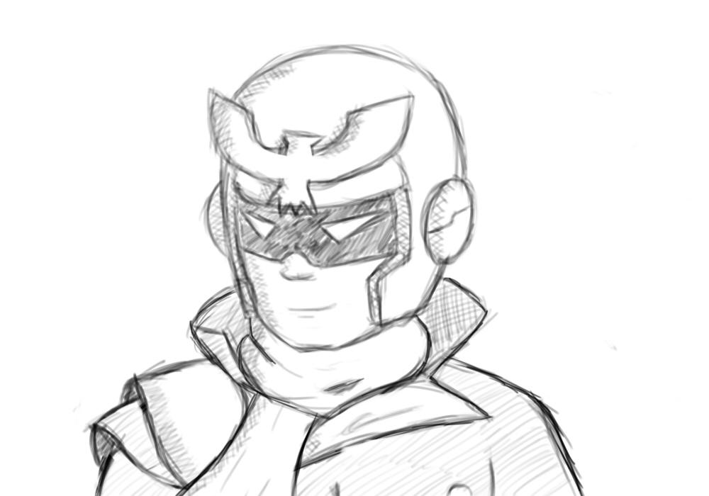 1000x700 Captain Falcon Sketch By Kahunathekid
