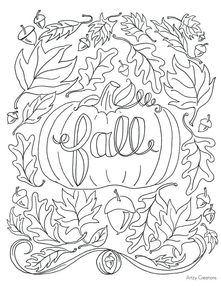 736x952 Fall Printable Coloring Pages Color Free For Kids Best Leaves Fal
