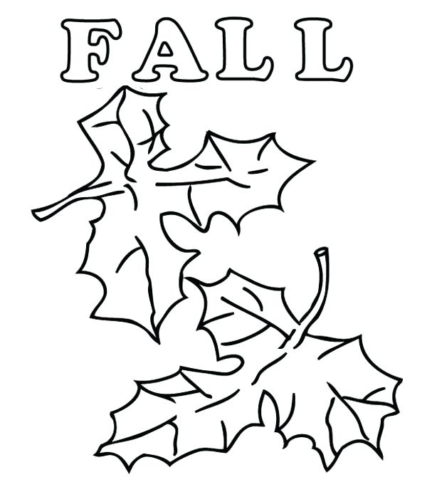 600x670 Pictures Of Fall Leaves To Color Leaf Coloring Page Images Autumn