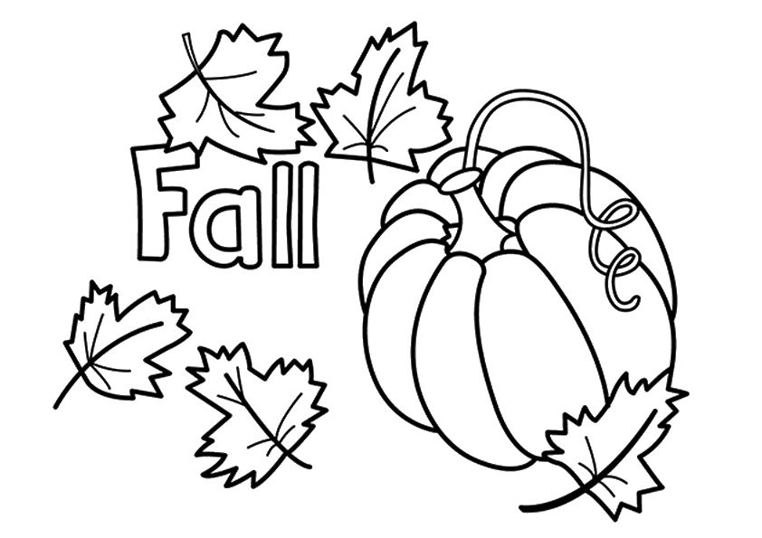 842x595 Fall Coloring Pages To Print