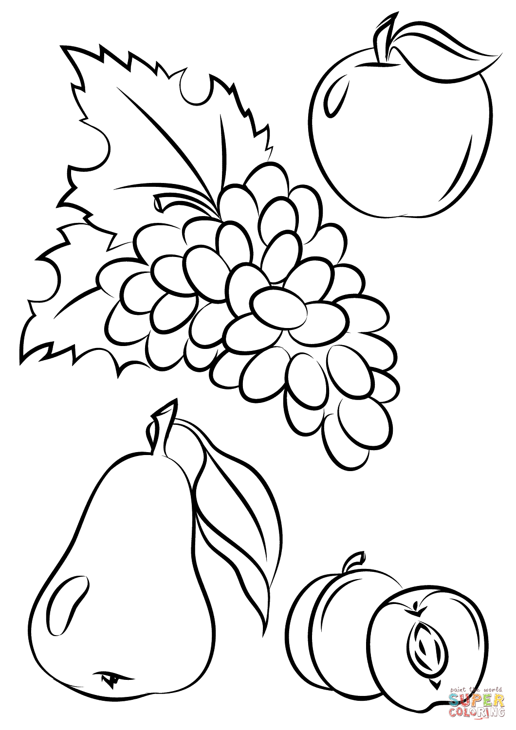 1060x1500 Autumn Fruits Coloring Page Free Printable Pages