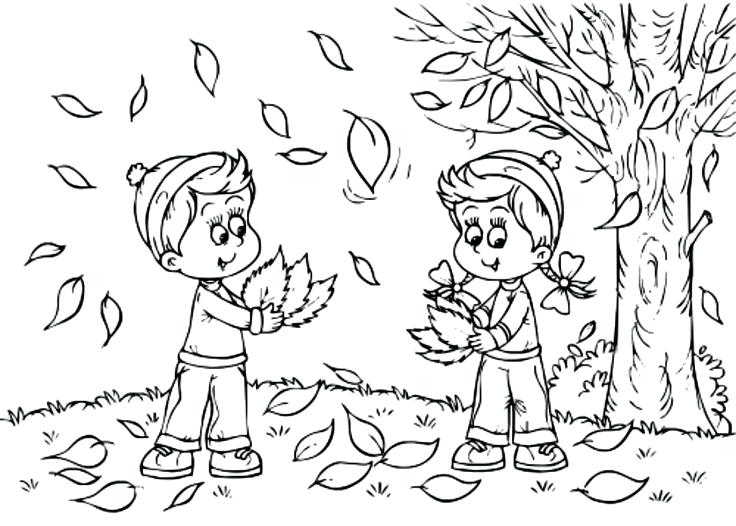 736x526 Coloring Pages Of Fall Leaves Fall Themed Coloring Pages Draw Fall
