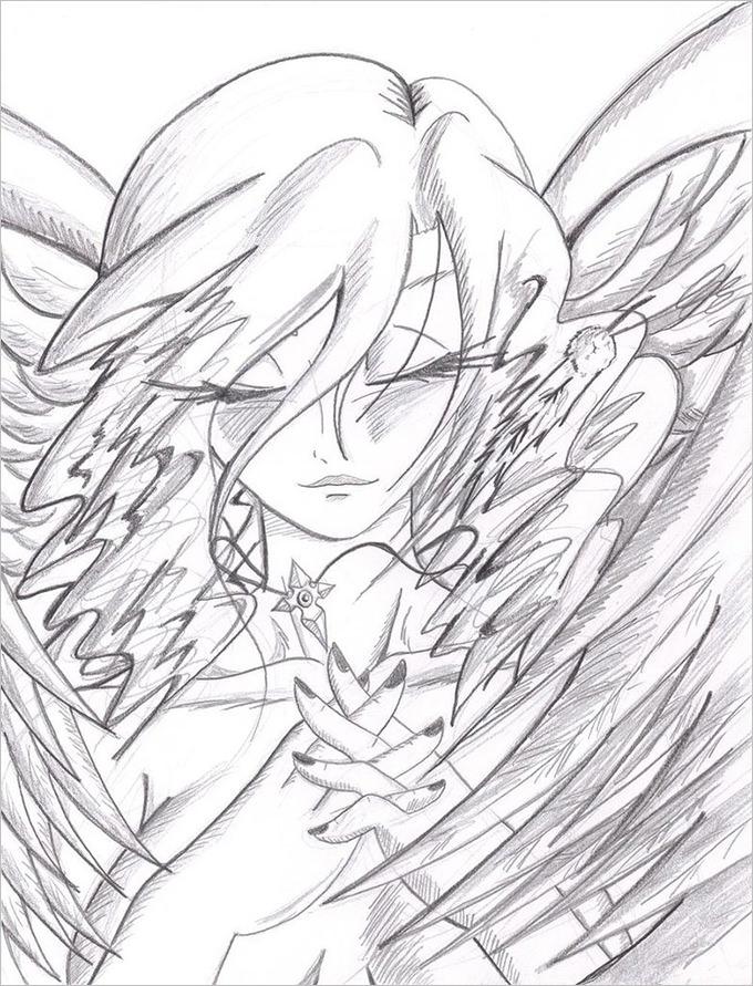Fallen Angel Drawing