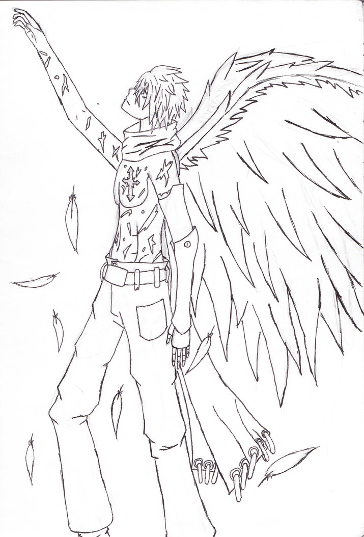coloring pages of fallen angels - photo#8