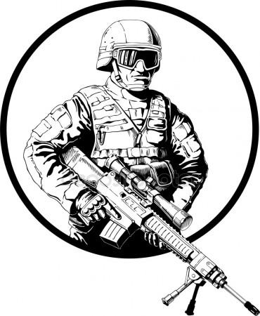 370x450 Soldier Stock Vectors, Royalty Free Soldier Illustrations