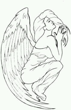 Falling Angel Drawing