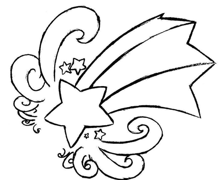 900x727 Drawn Falling Stars Drawing